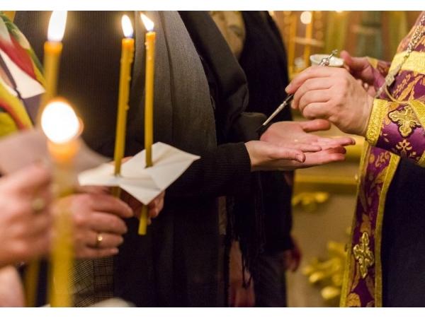 Соборование в нашем храме Великим постом
